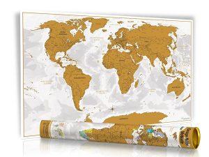 Scratch Map, Weltkarte